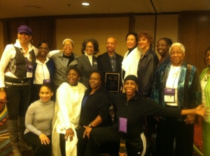 IABD Board members, with Milton Myers and Virginia Johnson, center l. & r.