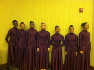 Students from the Cleveland School of the Arts before performing Sunday Morning